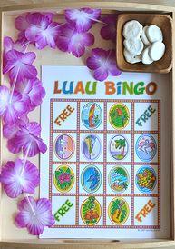 Luau Bingo for Kids