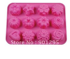 wholesale- free shipping 12 cups in one sheet silicone cake mold flower cake pan cake tray moon cake mold on AliExpress.com. $4.99