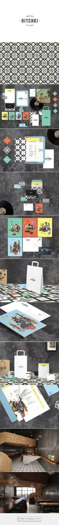 Hitchki Indian Restaurant Branding and Menu Design by Manu Ambady Web Design Agency, Brand Identity Design, Graphic Design Branding, Menu Design, Corporate Design, Packaging Design, Pizza Branding, Restaurant Identity, Restaurant Design