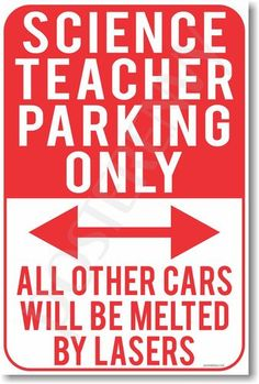 Shop Now for unique posters like this Science Teacher Parking Only poster with FREE U.S. SHIPPING at PosterEnvy