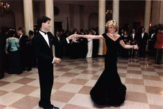 This makes me smile. Princess Diana & John Travolta dancing - LOVE!