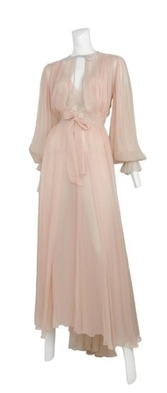Chiffon Night Dress/ Please bring back 1930!x /Silk & Grey