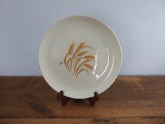 Vintage Golden Wheat Dinner Plate 22K Gold by jessamyjay on Etsy
