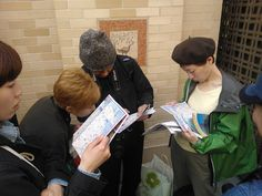 Studying the map, via Flickr.
