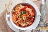 Салат из редьки, моркови и перца