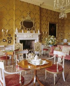 The opulent interior of the Drawing Room at Dyrham Park, Dyrham at National Trust English Manor Houses, English House, English Style, French Style, English Castles, Second Empire, Classic Interior, Beautiful Interiors, French Interiors