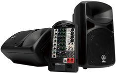 Kompakt 2 x 200 watt PA system med mikser, 8 kanaler, 4 mic + 2 stereo linje, digital SPX reverb. Leveres inkludert 2 stk. høyttalere med kabler.
