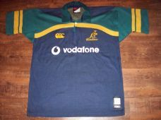 2001 2002 Australia Rugby Union Player Issue Temex Shirt Adults Large Wallabies