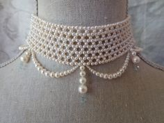 pearl choker, by Marina J