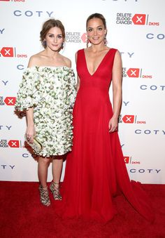 Olivia Palermo and Co-founder, Delete Blood Cancer Katharina Harf attend the 9th Annual Delete Blood Cancer Gala on April 16, 2015 in New York City.