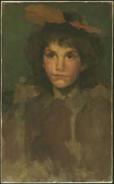 'Violet and Blue: The Red Feather', óleo sobre tela por James Abbott Mcneill Whistler United States) James Abbott Mcneill Whistler, Glasgow Museum, Harvard Art Museum, Red Feather, Impressionist Paintings, Realism Art, Art For Art Sake, American Artists, Art Reproductions