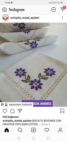 Mavis, Diy And Crafts, Cross Stitch, Lily, Embroidery Ideas, Cross Stitch Embroidery, Butterfly Cross Stitch, Herb, Towels