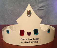 VBS 2013 Day 1 Decorate your own crown. Use poster board & self adhesive jewels (Oriental Trading).