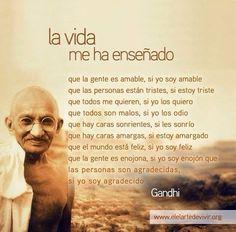 muy cierto lo de #Gandhi Filosofia