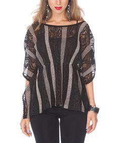 Take a look at this Black Sheer Stripe Top by Lily on #zulily today! $22.99, regular 98.00