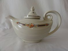RP: Vintage Hall China Blue Bouquet Aladdin Teapot with Infuser | eBay.com