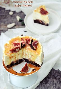 Fig Cake, Caramel, Something Sweet, Coffee Cake, Beautiful Cakes, Yummy Cakes, No Bake Cake, Food And Drink, Sweets