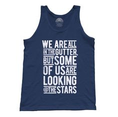 Unisex Looking At the Stars Oscar Wilde Tank Top