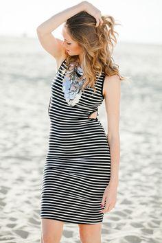 Black and White Cutout Dress