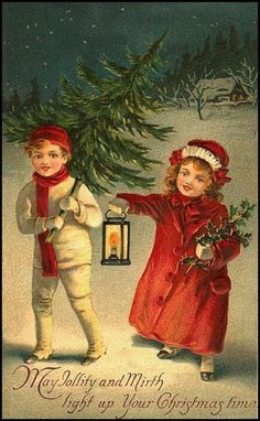 Vintage postcards New Year and Christmas Christmas Past, Victorian Christmas, Vintage Christmas Cards, Vintage Holiday, Christmas Pictures, Christmas Greetings, Vintage Halloween, Christmas Postcards, Birthday Greetings