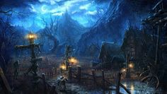 Moonlight village_Tera by ~moonworker1 on deviantART