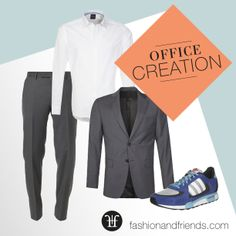 Office, Büro. Sneaker, Adidas, Hemd, Anzug