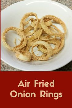 My attempt at onion rings in the air fryer!  These were fantastic!  More on the blog at www.kathleenhowell.com