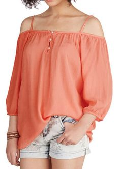 pretty #coral top  http://rstyle.me/n/jungmpdpe