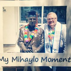 Professor Jackson sharing his #mymihaylomoment photo.