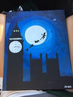 For my momma's bday crafts disney Disney Canvas Paintings, Disney Canvas Art, Cute Paintings, Disney Art, Gouache Painting, Diy Painting, Painting & Drawing, Pinturas Disney, Disney Crafts
