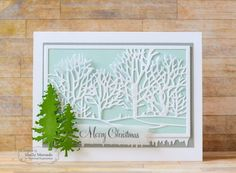 Merry Christmas Card by Shelly Mercado #Cardmaking, #Christmas, #Winter