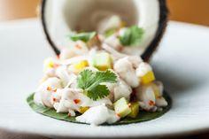 Seafood Ceviche, Prawns, Sea bass, Scallops, Mangosteen, White Truffle Oil & Coconut Jus  #soho #foodporn #oldcompton www.thehouseofho.co.uk