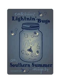 Decal Catching Lightning Bugs on Southern Summer Nights by Ashton Brye™