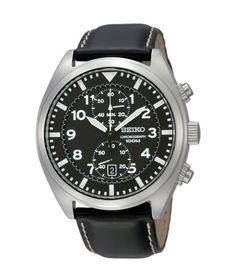 Seiko SNN231P2 Chronograph Men's Black Dial Black Leather Strap Quartz Watch https://www.carrywatches.com/product/seiko-snn231p2-chronograph-mens-black-dial-black-leather-strap-quartz-watch/ Seiko SNN231P2 Chronograph Men's Black Dial Black Leather Strap Quartz Watch  #Chronographwatch More chronograph watches : https://www.carrywatches.com/tag/chronograph-watch/