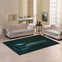 Love Nature Sweet Home Modern Collection Custom Guitar Area Rug 2'7'x 1'8' Indoor Soft Carpet * You can get additional details at the image link-affiliate link. #AreaRugsRunnersPads