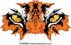 Tiger Eyes Mascot Graphic View Large Clip Art Graphic