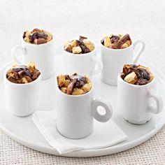 Ghirardelli Caramel Dark Chocolate Mini Bread Puddings