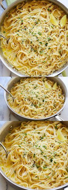 Creamy Garlic Parmesan Fettuccine