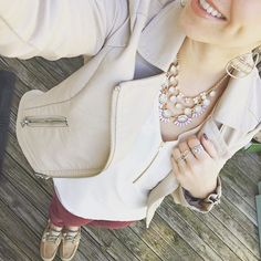 I love that my #angelic #necklace goes with everything, especially my favorite new outfit lol. #cabi #pants #express #shirt #leather #jacket #spring is coming #iloveshoes #pdlife #pdstyle #pdeveryday #premierdesigns #jeweler #jewelry #jewelrygirl #jewelrylover #fashion #fabulous #style #stylist #fashionista  #earrings #cloe justineboone.mypremierdesigns.com