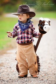 Cute idea with the stick horse!