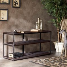 Renate Media Console Coffee Finish | Overstock.com Shopping - The Best Deals on Entertainment Centers