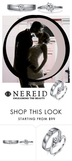 """Silver Diamond Couple Rings"" by nereidjewelry ❤ liked on Polyvore"