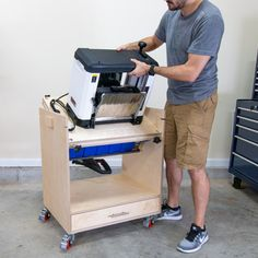 Best Space Saving Tool Storage for Your Shop! I built a Flip Top Tool Stand with some upgrades to get better tool storage in my shop. You can store two tools in one footprint and save space in a small garage shop or basement workshop. Woodworking Shop Layout, Woodworking Projects Diy, Woodworking Plans, Woodworking Store, Small Woodworking Shop Ideas, Woodworking Techniques, Woodworking Videos, Basement Workshop, Tool Stand