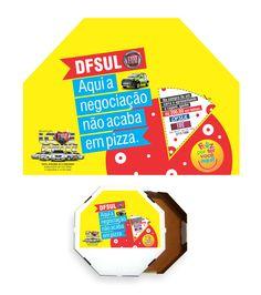 Cliente: DFSUL fiat concessionária Material: caixa para pizza Agência: BAG propaganda
