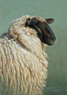 Woolly 7x5, painting by artist George Lockwood