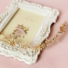 Fall Fashion Star long bridal tiara Korean bridal hair jewelry gold leaf wedding hair accessories wholesale