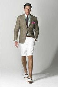The 'Short Suit' Is Finally Going Mainstream   Khaki suits, Short ...