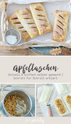 FOOD Simply and quickly bake puff pastry apple p Puff Pastry Apple Pie, Puff Pastry Recipes, Apple Pies, Puff Pastries, Apple Turnovers, Fall Recipes, Sweet Recipes, Apple Recipes, Snacks Saludables
