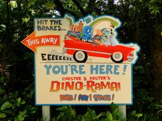 Dino-rama sign #disney #imagineering