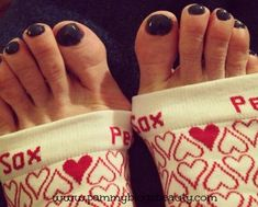 OriginalPedi-Sox®....keep freshly pedicured feet comfy, clean and warm during the colder months.   Toenails dry flawlessly!